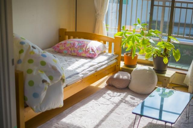 太陽の光が入るお部屋