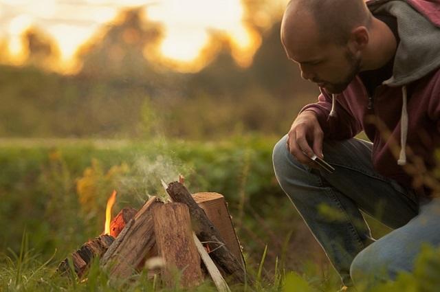 焚き火 対流で温かくなる